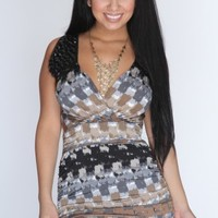 Grey Multi Printed Faceted Decor Sexy Party Dress @ Amiclubwear sexy dresses,sexy dress,prom dress,summer dress,spring dress,prom gowns,teens dresses,sexy party wear,women's cocktail dresses,ball dresses,sun dresses,trendy dresses,sweater dresses,teen clo