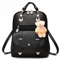 Student Backpack Children ZHIERNA 2017 High Quality Korean Style Women Backpack New Spring And Summer Students Backpack Girl Backpacks With Bear AT_49_3