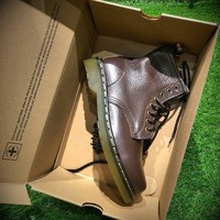 Sale Newest Dr. Martens Modern Classics 1460 Retro Brown Leather Boots 524952-1