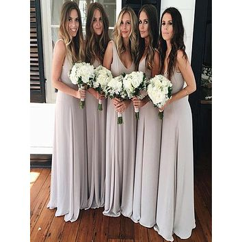 Cheap Chiffon Bridesmaid Dresses, Bridesmaid Dress For Wedding BM0010