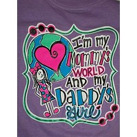 Southern Chics Funny I'm Mommy's World & Daddy's Girl Toddler Youth Bright T Shirt