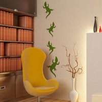 Vinyl Wall Decal Sticker Crawling Lizards #OS_MB443