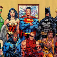 batman, superman, green lantern, wonder woman, dc universe, comics, heroes POSTER 24X36 INCH = 1927781060