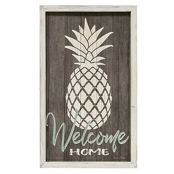 Welcome Home Wall Art With Pineapple Design