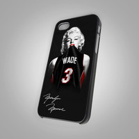 Marilyn Monroe Miami Heat Dwyane Wade - KC New 041 - Design on Hard Cover - iPhone 4 / 4S Case, iPhone 5 Case