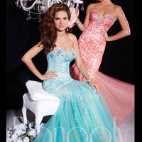 Sweetheart Lace Mermaid Tulle Prom Dress By Panoply 14665