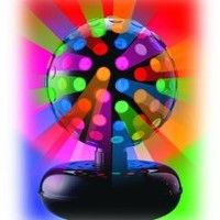Visual Effects Giant Rotating Disco Ball with Exciting Multicolor Effects