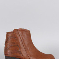 Women's Qupid Western Cut Bootie