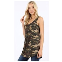 Adorable Me, Camoflauge Sleeveless Top