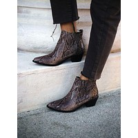 Women's Motorbike Boots Pointed Toe Ankle Boots