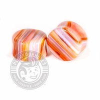 Red Line Agate Stone Plugs