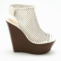 White Perforated Wedges