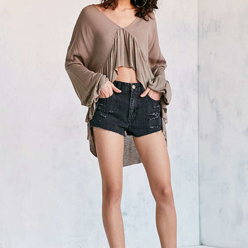 Ecote Greenly High/Low Blouse | Urban Outfitters