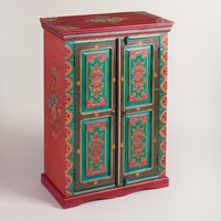 Painted Wood Cabinet