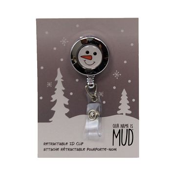 Accessories Snowman Retractable Id Clip Badge Holder - 6006822