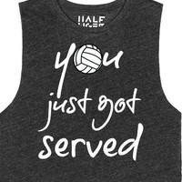 Volleyball Muscle Tee You just got served-Heather Onyx T-Shirt