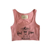 Feel free alien yoga tank crop top