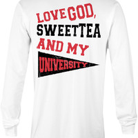 Love God, Sweet Tea and My University (Red/Black)
