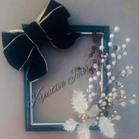 Picture frame wreath- christmas wreath-wall hanging