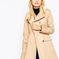 ASOS   ASOS Trench with Funnel Neck at ASOS