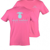 Simply Southern Pineapple- Hot Pink