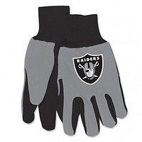 Raiders Two Tone Adult Size Gloves