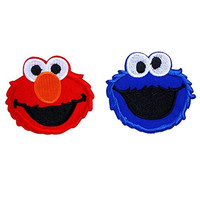 Cookie Monster Sesame Street Elmo Cartoon Iron on Patch Logo Fabric Applique