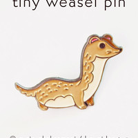 Weasel Pin Enamel Lapel Pin Ermine Pin by boygirlparty