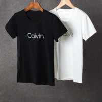 "2017""Calvin Klein""Fashion Round neck White Top T-Shirt"