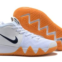 Nike Kyrie 4 White/Navy-Raw Sneaker Shoe