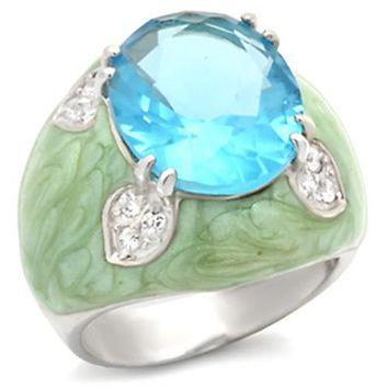 Sterling Silver Cubic Zirconia Ring 37401 - 925 Sterling Silver Ring