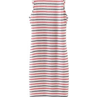 Multicolor Stripe Open Back Sleeveless Bodycon Dress