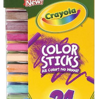 Crayola Woodless Color Pencils, Assorted, 24/Pack (682324)
