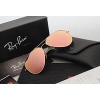 Ray Ban Aviator Sunglasses Yellow Flash Gold Frame RB3025 Sunglasses