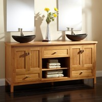 "72"" Alcott Bamboo Double Vessel Sink Vanity - Bathroom Vanities - Bathroom"