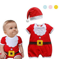 JP-036 Retail baby christmas rompers newborn boy girls romper infant clothing baby clothes bebe new year costumes for kids