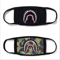 HCXX A Bathing Ape Face Mouth Mask Unisex Camo Anti Fog Protective Breathe Bape Masks