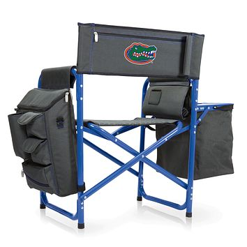 Florida Gators - Fusion Backpack Chair with Cooler, (Dark Gray with Blue Accents)