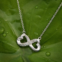 Infinity Heart Necklace- Bridesmaid Gift- Flowergirl Gift- Bride- Wedding by That Wedding Boutique