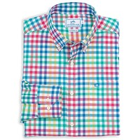 A-List Check Sport Shirt in Fire by Southern Tide