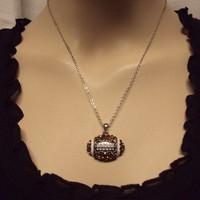 Sports Bling Necklace - Football