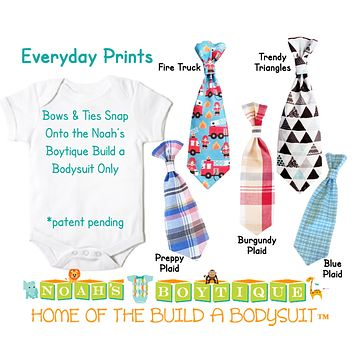 Everyday Prints Snap On Ties and Bow Ties by Noah's Boytique