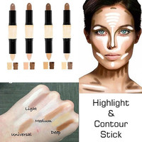Women's Fashion Beauty Cosmetic Flawless Highlight Contour Stick Concealer Stick