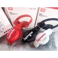 Supreme & JBI New fashion letter print couple wireless bluetooth noise cancelling headphones headset