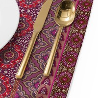 Aimee St Hill Farah Stripe Red Placemat