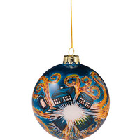 Hand Painted Starry Night Ornament