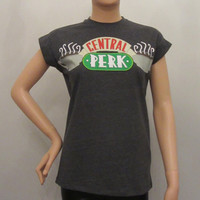 PRIMARK Ladies Official CENTRAL PERK Coffee Shop FRIENDS 90's TV Show T Shirt