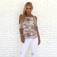 Wade in the Watercolor Print Blouse