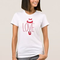 Love Magnet White, Black, & Red Tee (Adult Size)