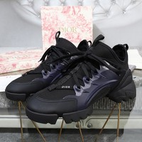 DIOR Fashion Women Casual High top Sneakers Sport running Shoes top quality black